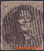 België 1849 - Mi:1, Yv:1, OBP:1, Stamp - O - Leopold I Epaulettes - 1849 Epaulettes
