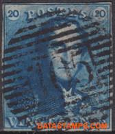 België 1849 - Mi:2, Yv:2, OBP:2, Stamp - O - Leopold I Epaulettes - 1849 Epaulettes