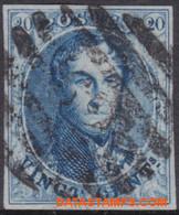 België 1858 - Mi:8 I, Yv:11, OBP:11A, Stamp - O - Leopold I Elongated Medallions - 1851-1857 Medaillen (6/8)