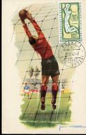 65557 Ceskoslovensko,, Maximum  20.6.1962,  Football, World Chile 1962 - Covers & Documents