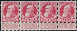 Belgie .   OBP  .   74  . Strook 4 Zegels   .     **   .   Postfris  .   /   .   Neuf  SANS Charnière - 1905 Breiter Bart