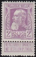 Belgie   .   OBP    .   80    .       *     .    Ongebruikt Met Gom   .   /   .   Neuf  Avec Gomme - 1905 Thick Beard