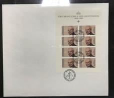 Liechtenstein KB Satz Mit MiNr. 988-89 Ersttagsbriefe/ FDC Fürstenpaar (BW8389 - Bloques & Hojas