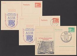 Mining DDR Privat-GA Aue Erzgebirge Erz Bergbau Fest Des Liedes Bergarbeiterstadt, C-Ganzsache - Privatpostkarten - Gebraucht