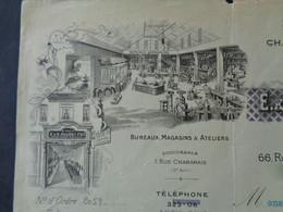 FACTURE - Dpt DE LA SEINE - PARIS 4ème - 1924 - FUMISTERIE - B. ALLIOLI : 66 RUE SAINT ANTOINE - Unclassified