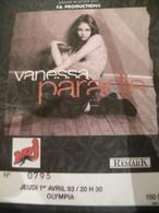 Billet Ticket Concert Vanessa Paradis Olympia 1/4/93 - Concert Tickets