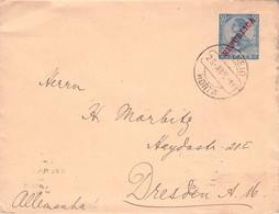 AZORES - ENVELOPE 50 REIS 1911 HORTA > DRESDEN/DE //GR 9 - Azores