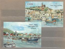 Joint Issue 2011 Malta Iceland Ships Harbor Art MS X 2 MNH(**) #30190 - Emissioni Congiunte