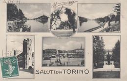 7612) SALUTI Da TORINO - 1909 !! Tolle Ansichten - VERY OLD ! - Sin Clasificación