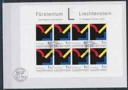 Liechtenstein Kleinbogensatz Mit MiNr. 1281-82 Ersttagsbriefe/ FDC Kunst (GG1560 - Bloques & Hojas