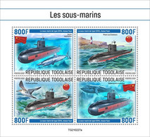 Togo 2021, Submarines, Bird, Shark, Whale, Lighthouse, 4val In BF - Marine Web-footed Birds