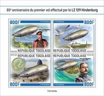 Togo 2021, Zeppelin, Bird, 4val In BF - Marine Web-footed Birds