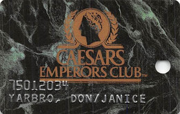 Caesars Palace Casino Las Vegas, NV - Dark Green Marble Slot Card - Casinokaarten