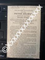 [V] Delbeke Pieter D'Hondt Zenobie Lichtervelde Poelkapelle 1868 1940 - Obituary Notices