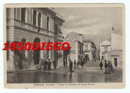PALAZZOLO ACREIDE - PALAZZO DI GIUSTIZIA IN PIAZZA PRETURA  F/GRANDE VIAGGIATA  1939 BELLA ANIMAZIONE - Siracusa