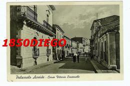 PALAZZOLO ACREIDE - CORSO VITTORIO EMANUELE F/GRANDE VIAGGIATA 1947 BELLA ANIMAZIONE - Siracusa