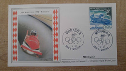 N°1811 - FDC Jeux Olympiques De 1992 - Albertville - Bobsleigh - FDC