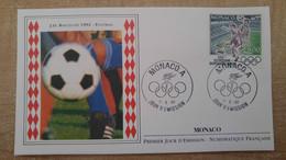 N°1812 - FDC Jeux Olympiques De 1992 - Albertville - Football - FDC