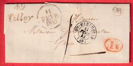 CURSIVE 49 TILLOY MARNE 1843 TAXE LOCALE 1 STE MENEHOULD OR + DECIME RURALE DE AUVE - 1801-1848: Precursors XIX