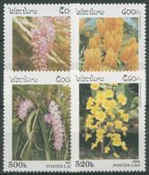 Laos 1996 Pflanzen Blumen Orchideen 1534/37 Postfrisch - Laos