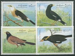 Laos 1995 Tiere Vögel Stare 1448/51 Postfrisch - Laos