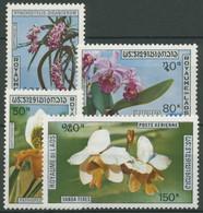 Laos 1972 Pflanzen Blumen Einheimische Orchideen 337/40 Postfrisch - Laos