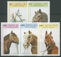 Laos 1996 Tiere Pferde Zugpferde 1538/42 Postfrisch - Laos