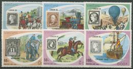 Laos 1990 WORLD LONDON '90: Briefmarken Und Postbeförderung 1200/05 Postfrisch - Laos