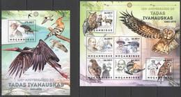 BC1170 2012 MOZAMBIQUE MOCAMBIQUE FAUNA BIRDS 130TH ANNIVERSARY TADAS IVANAUSKAS KB+BL MNH - Sonstige