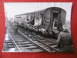 ACCIDENT GARE DE NOGENT SUR MARNE1952 DERAILLEMENT TRAIN PARIS BALE PHOTO 18 X 13 Cm - Treni