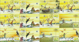Brazil 2014 7 Official Maximum Card The Art Of Brazilian Football Soccer Sport - Sin Clasificación