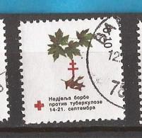 2001  9  BOSNIA ERZEGOVINA  REPUBLIKA SRPSKA BANJA LUKA CROCE ROSSA RED CROSS FAUNA TUBERCULOSI USED - Heilpflanzen