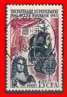 FRANCIA – TIMBRES. AÑO 1965 -  300 ANIVERSARIO DE LA COLONISACION DE REUNIÓN - Usati
