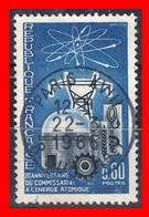 FRANCIA – TIMBRES. AÑO 1965 -  20 ANIVERSARIO DE LA ENERGIA ATOMICA - Usati