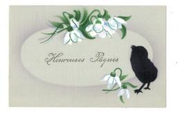 Heureuses Pâques - Poussin Noir - Perces  Neige - CHA511 - Pasen