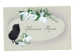 Heureuses Pâques - Poussin Noir - Perces Neige - Dos Inversé - CHA521 - Pasen