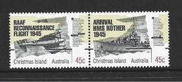 Christmas Island 1995 World War II Peace Anniversary Joined Pair MNH - Christmas Island