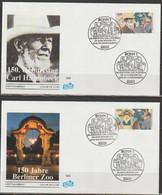 Bund FDC 1994 Nr.1734 - 1735 Aus Block 28  150.Geb. Carl Hagenbeck( D 4122 )günstige Versandkosten - FDC: Covers