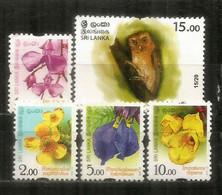 Serendib Scops Owl (Hibou Petit-duc De Sérendip) + Nouvelle Série Fleurs, Année 2016. Neufs ** - Sri Lanka (Ceylon) (1948-...)