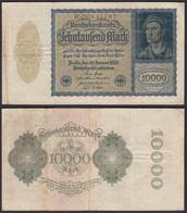 Reichsbanknote - 10.000 10000 Mark 1922 Ros. 69 Pick F (4)  (22337 - Zonder Classificatie