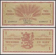 FINNLAND - FINLAND 1 MARKKA 1963 PICK 98a UNC (1)   (25441 - Finland
