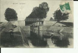 70 - Haute Saone - Rigny - Enfant à La Peche - Homme En Barque Sur Le Canal - Pont Et écluse  - Animée - - Other Municipalities