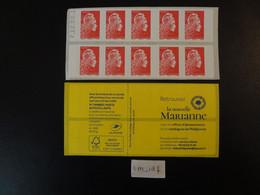 2020  CARNET SAGEM MARIANNE L'ENGAGÉE YSEULT LETTRE PRIORITAIRE ROUGE YT 1599-C2 DATÉ 7. 12.09.1(9) - Freimarke