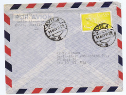 Spain Sc#C154 On 1955 Airmail Cover To USA - 1951-60 Cartas