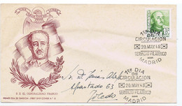 Spain: Sc#752- S E EL GENRALISMO FRANCO Cacheted FDC Premier Dia Emision -FIRST DAY COVER No. 8 Addressed To Toledo - FDC