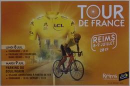 CPM 51 (Marne) Reims - Ville De Départ Du Tour De France 2019 TBE étape Du 8-9 Juillet, Vélo, Cyclisme, Sport, 2 Scans - Cycling