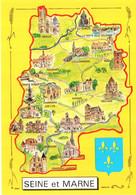 CPM 77 Seine-et-Marne, Multivues. Danmarie, Melun, Nemours, Souppes, Avon, Rebais, Meaux, Tournan, Lizy Sur Ourcq... TBE - Maps