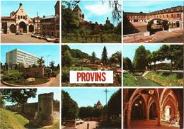 CPM 77 (Seine-et-Marne) Provins - Quartier Delort, Centre Hospitalier Léon Binet, Cente Sportif Et Autres Vues TBE - Caserme