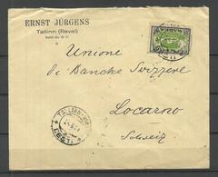 Estland Estonia 1924 Commercial Cover Michel 23 A As Single To Loarno Switzerland O Tallinn-Vaksal - Estonia