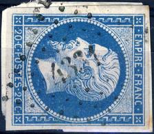 France - Yv.14B 20c Bleu Empire Non Dentelé T.2 - Oblitéré Pc 4331 (BIOL, Ind.19) - TB - 1853-1860 Napoléon III
